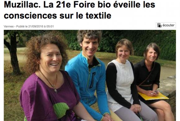 Muzillac. La 21e Foire bio éveille les consciences sur le textile