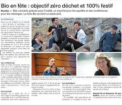 La Presse en parle : «La Bio en Fête» démarre ce samedi 29 septembre, à Muzillac…