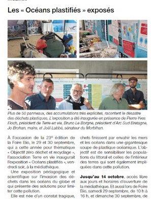 La Presse en parle…Exposition «Océans Plastifiés» à la Médiathèque de Muzillac